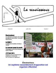 La Renaissance - Juillet 2013 - Volume 20 numéro 01.
