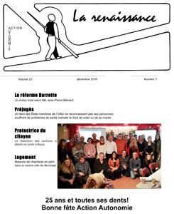 La Renaissance - Décembre 2016 - vol. 23 no. 03