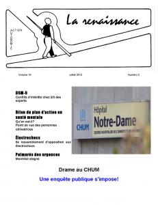 La Renaissance - Juillet 2012 - Volume 19 numéro 2.
