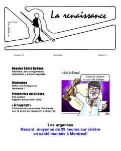La Renaissance - Décembre 2012 - Volume 19 numéro 3.