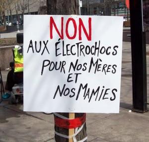 pancarte non aux électrochocs